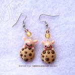 Bunny Cookie Monster Earrings