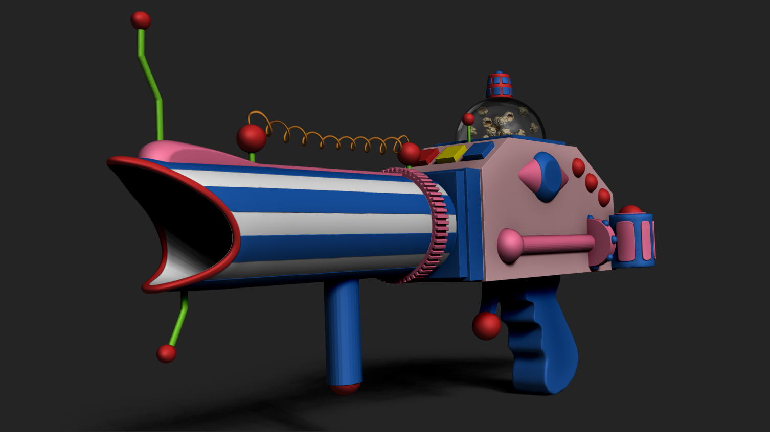 Popcorn gun killer klowns from outer space wip 2 by for Killer klowns 2
