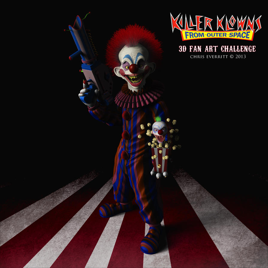 Killer klown from outer space 3d fan art by for Outer space 3d model