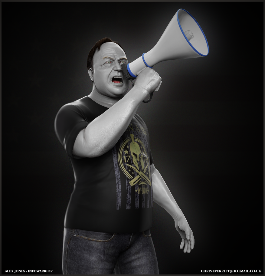 Alex jones Infowarrior by Simulacrumble