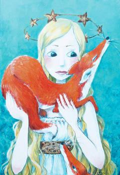 Femme aux renards