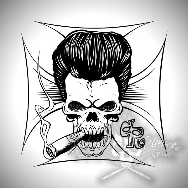 Rockabilly Wallpaper: Rockabilly Skull By Actionrokka On DeviantArt