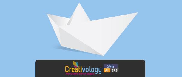 Free Vector Origami Boat By Creativologypk