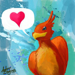 Phoenix Love by Dawnfinder