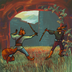 Sparring Match by Dawnfinder