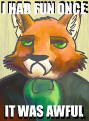 Grumpy Fox by Dawnfinder