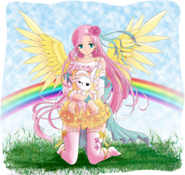 MLP : Fluttershy human'n'cute