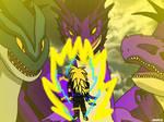 [Request] Super Saiyan 3 Cole vs 3 Kaiju Monsters