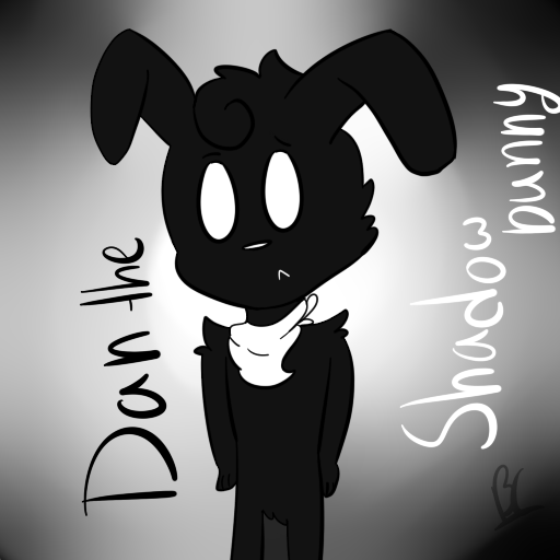 Dan The Shadow Bunny (Request) by puppylover17YT45
