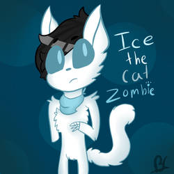 Ice The Cat Zombie (request) by puppylover17YT45