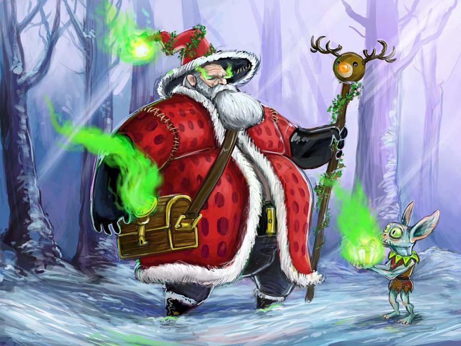 Jolly Wizard by evil-santa