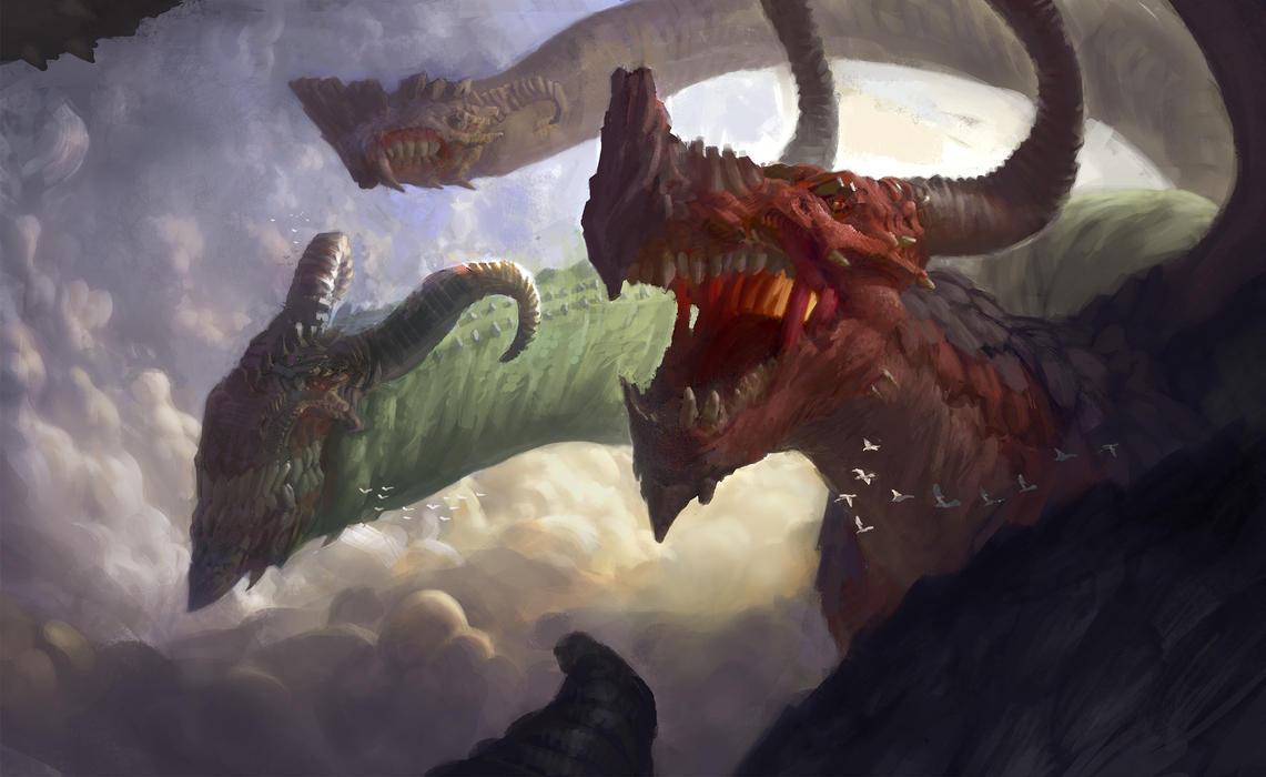 Dragon hydra by ArturTreffner