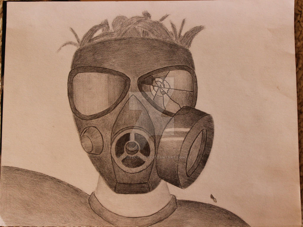 Gas mask pencil drawing by thetechyest on DeviantArt