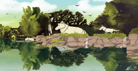 Princess Mononoke - Rest and Reflection