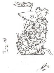 Crafty Cats by Fuzziesareourfriends