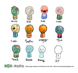 Box-Bod Figure Doodles by Reality-or-nothing
