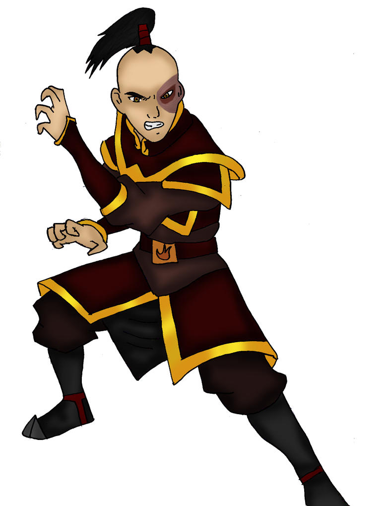 warrior Zuko 1 colored by Fallonkyra