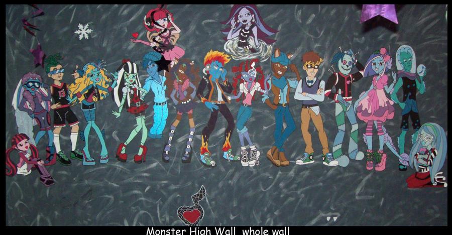 Monster High wall art whole wall by Fallonkyra. Monster High wall art whole wall by Fallonkyra on DeviantArt