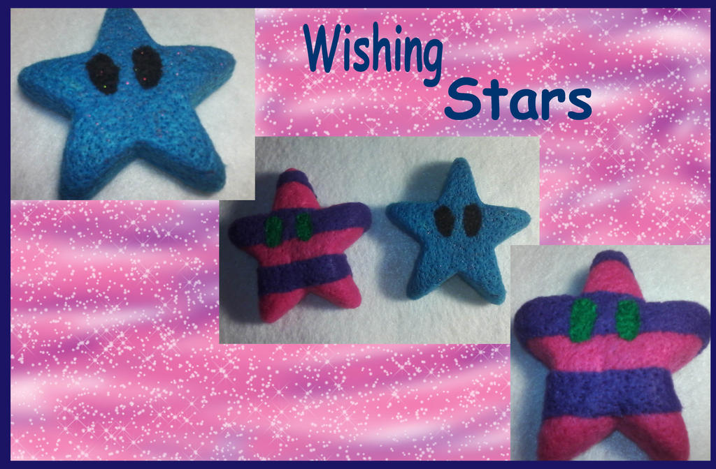 Felted wishing stars by Fallonkyra