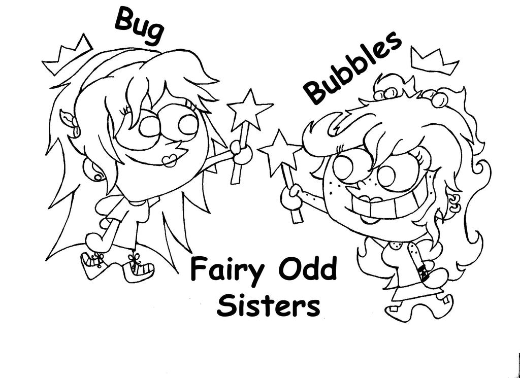 fireside girls coloring pages | Fairy Odd Sisters line art by Fallonkyra on DeviantArt
