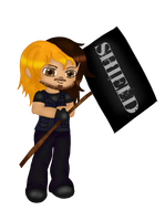 Chibi Seth Rollins colored by Fallonkyra