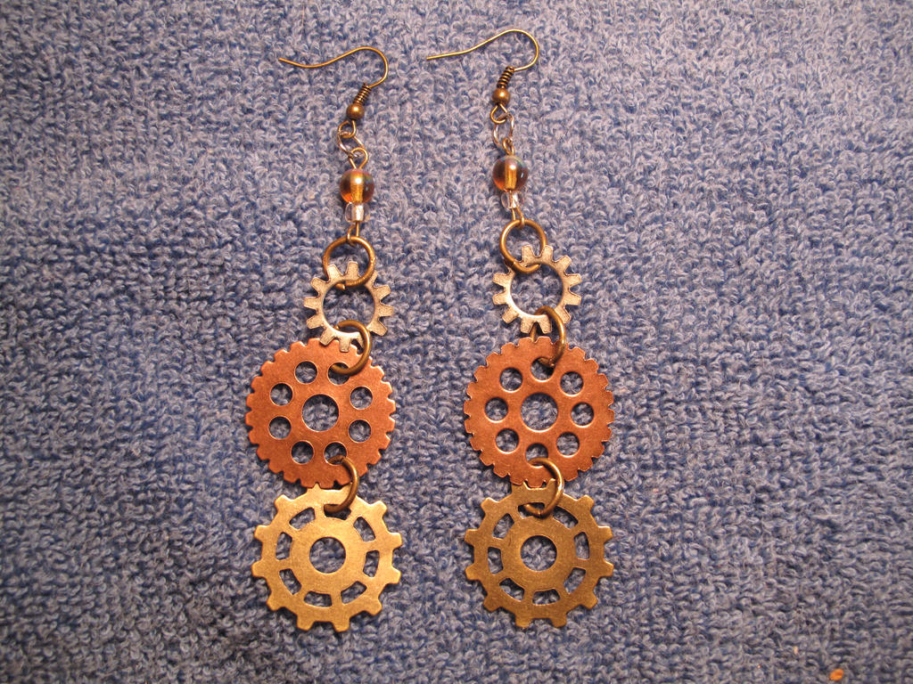 Gear ear ring set one by Fallonkyra