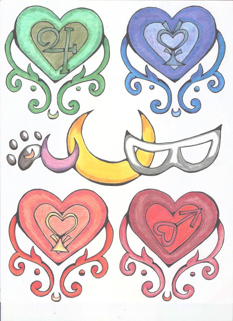 Sailor Moon signs by Fallonkyra