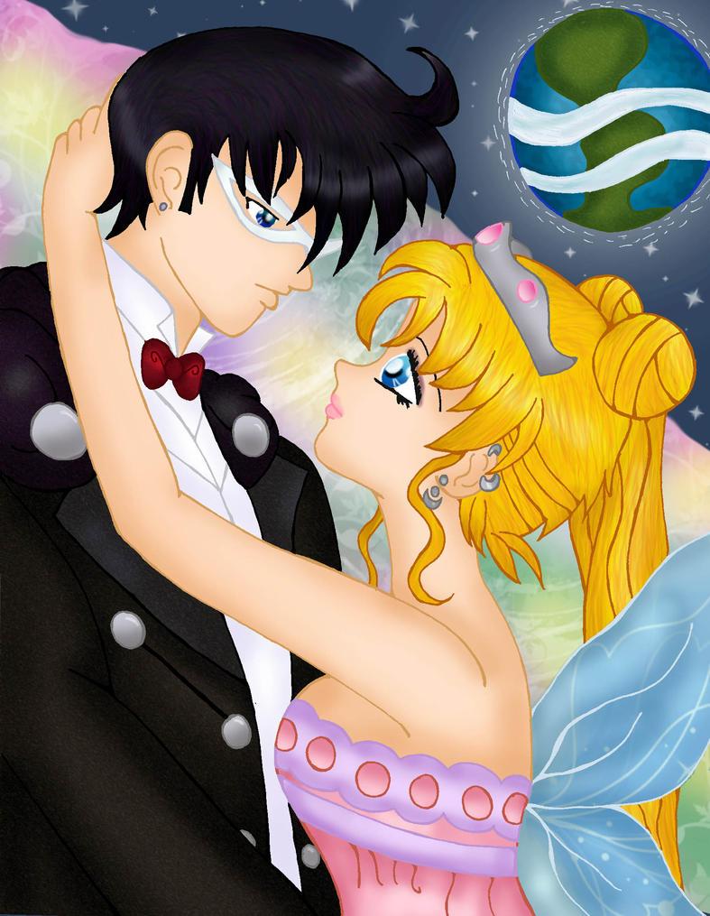 Earth Prince and  Moon Princess  PS colored by Fallonkyra