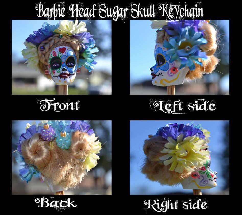 Sugar skull detail by Fallonkyra