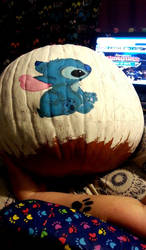 My Stitch and Toothless pumpkin WIP