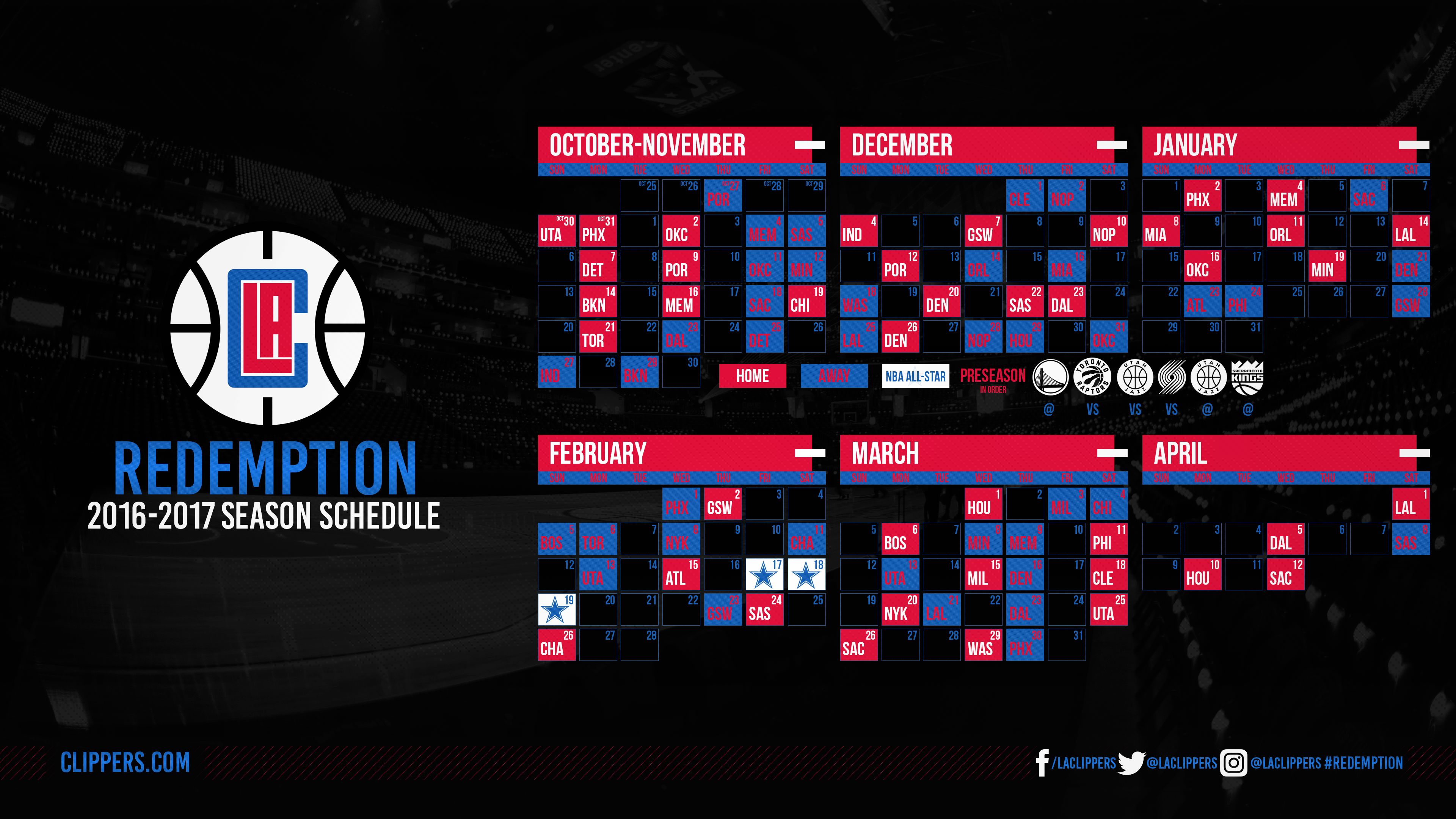 2016-2017 La Clippers Schedule by lukemphotography on ...