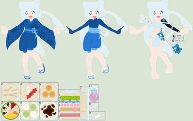 Yuki Aiko ref. sheet by PrincessLunarWolf
