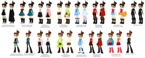 Pottermore O.C. Outfits by PrincessLunarWolf