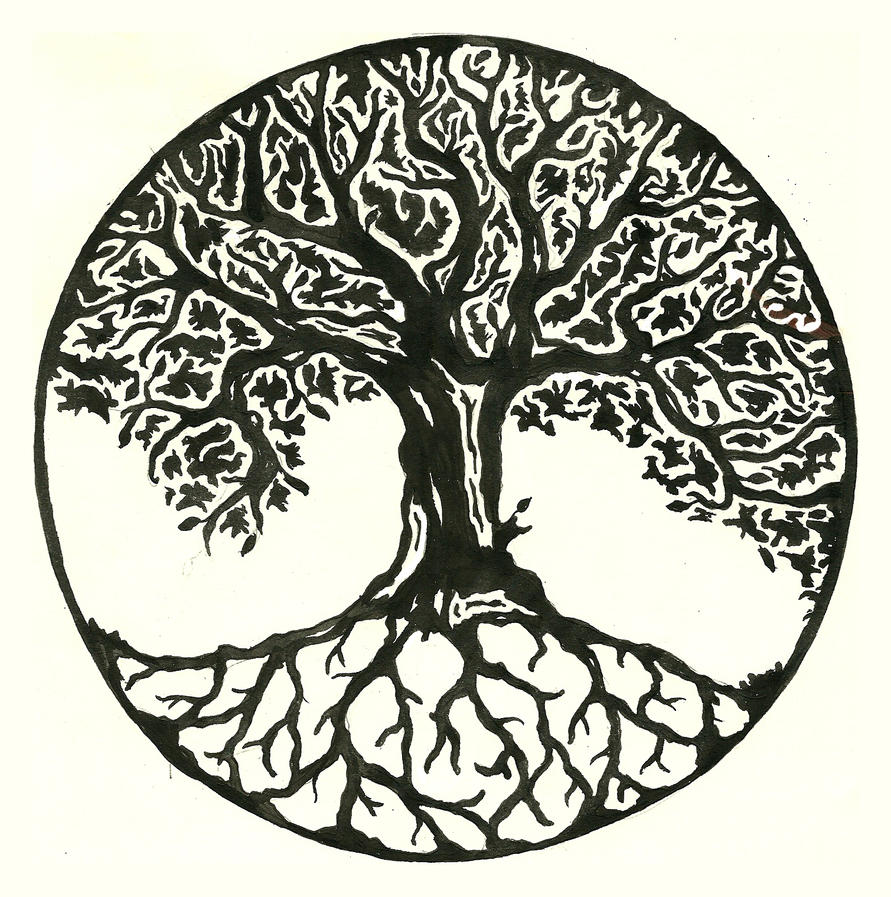 tree tattoo design by annie lane