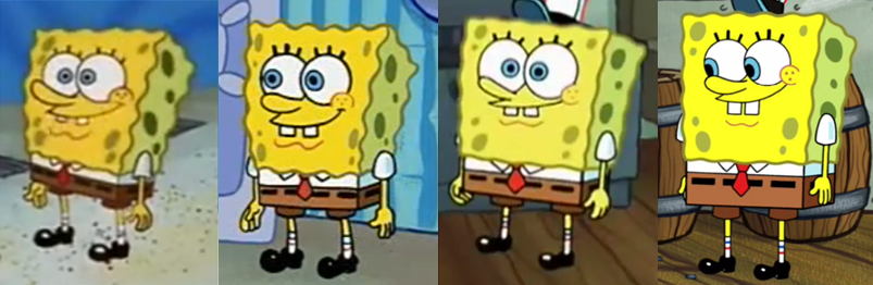 Cartoon Characters Voice Changer : Spongebob squarepants over the years by