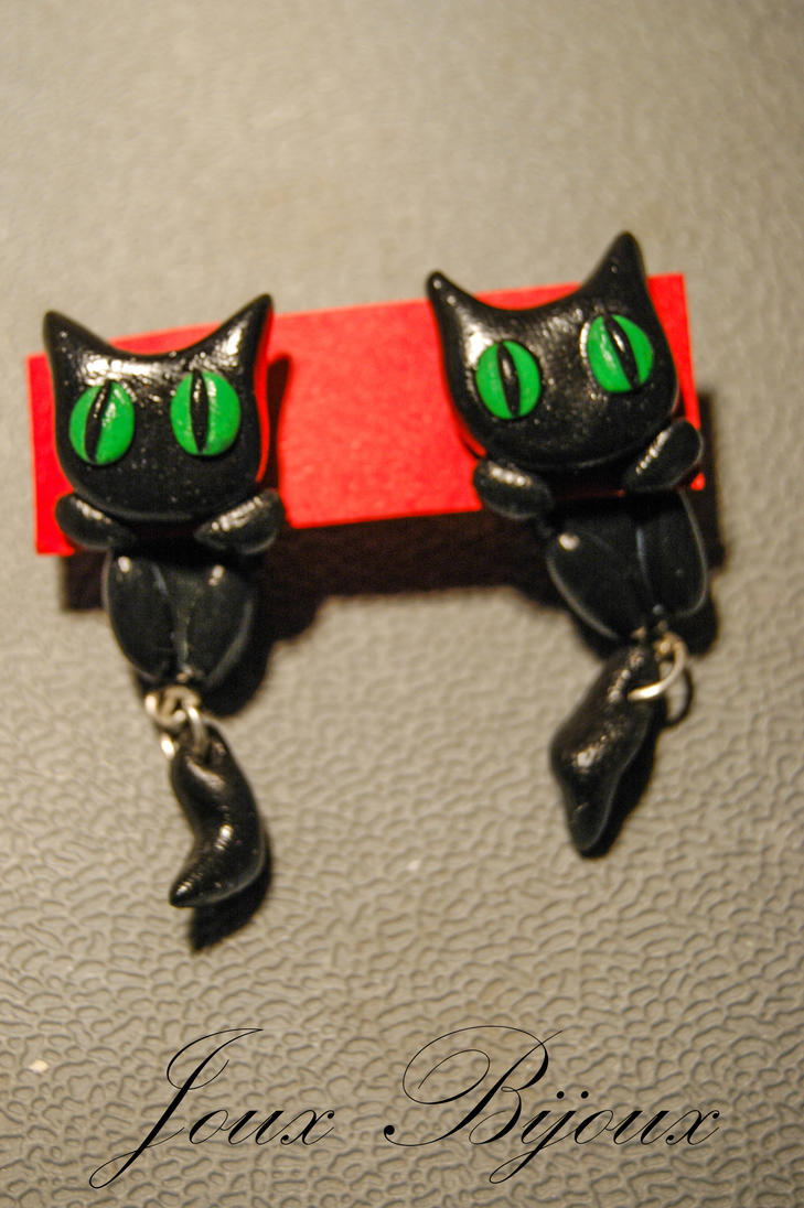 Fimo cats by Emmpunct