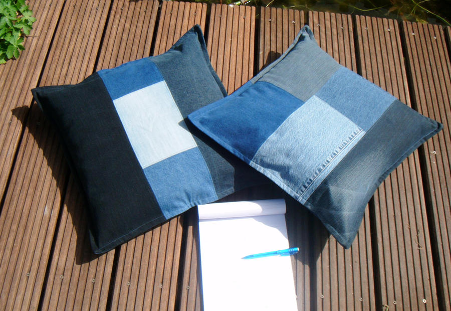 Quilting Patterns For Pillow Covers : Denim Pillow Cover Set by PolClary on DeviantArt