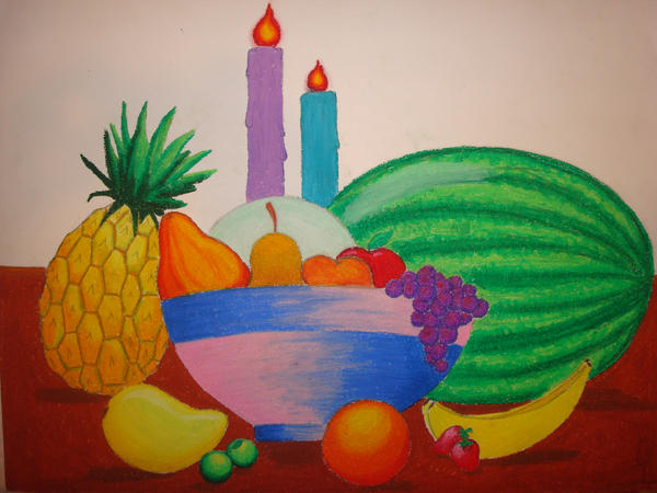 tempted by the fruit of another fruit bowl drawing