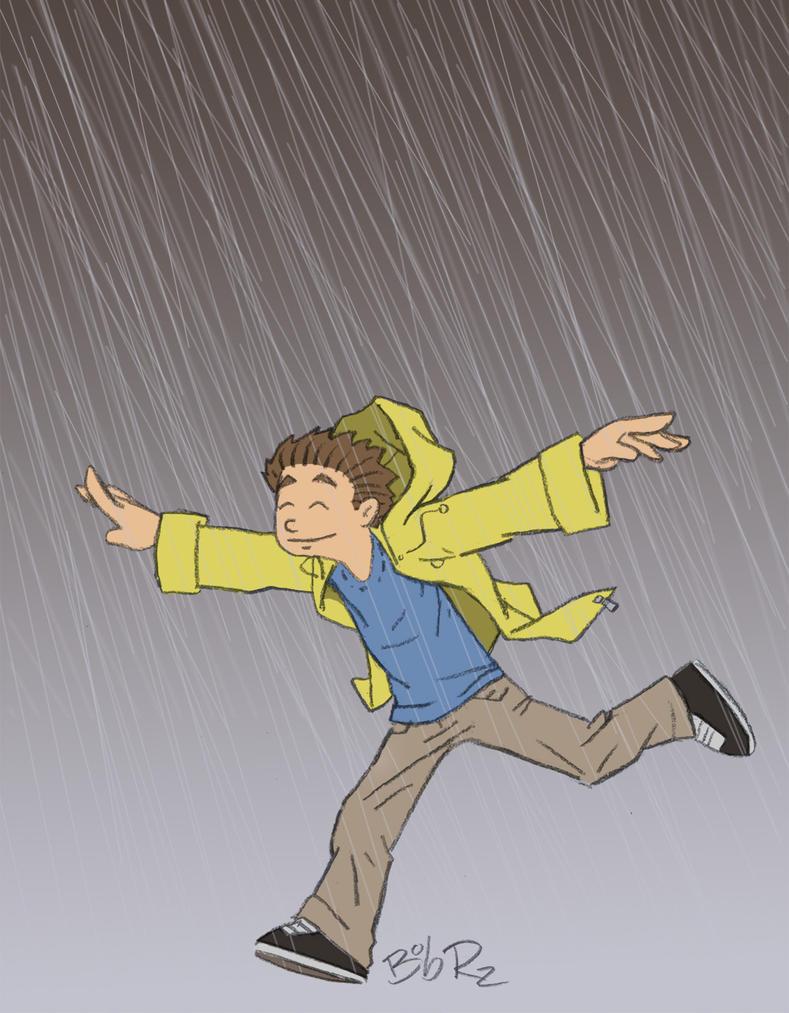 wearing a raincoat by Bob-Rz