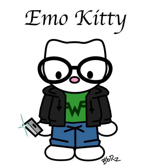 emo kitty by Bob-Rz