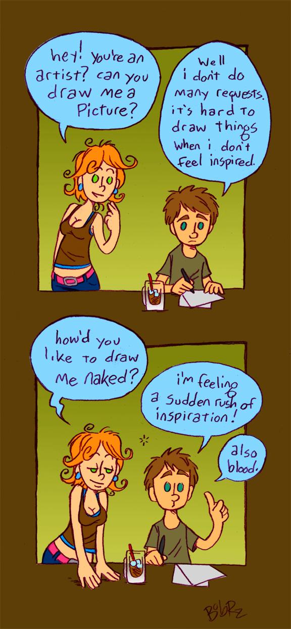 Algunas imagenes graciosas ¬¬ How_to_get_a_drawing_by_Bob_Rz