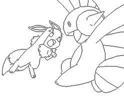 Eevee Vs Marshtomp Base by Child-Of-Hades