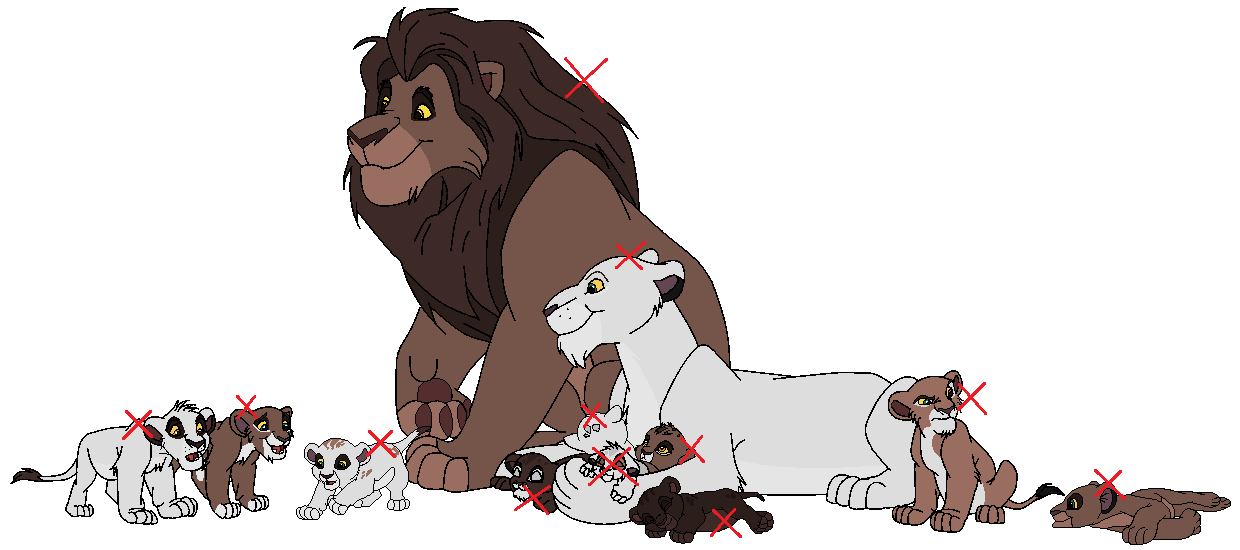 Adoptable Lion Family -GONE- by Child-Of-Hades