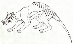 Disney-styled Thylacine