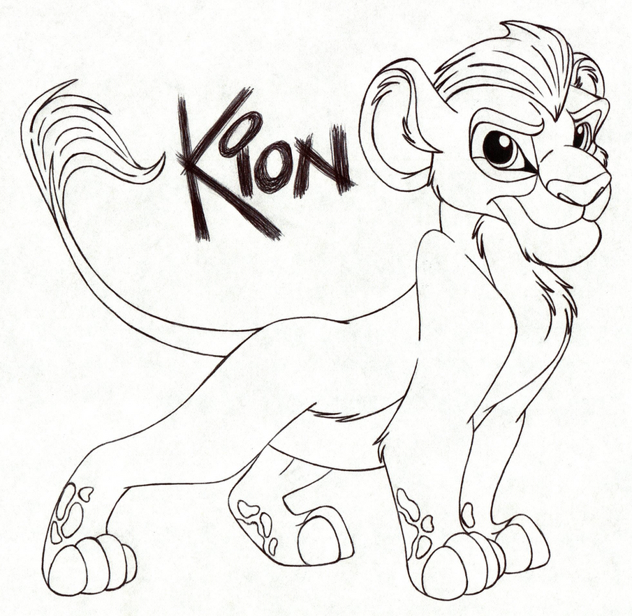 Free coloring pages lion guard - Kion By Child Of Hades
