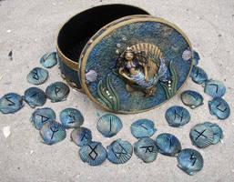 Mermaid Magick Rune Set by NalinaRoseStudio