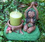 Guardian of Earth Candle Holder