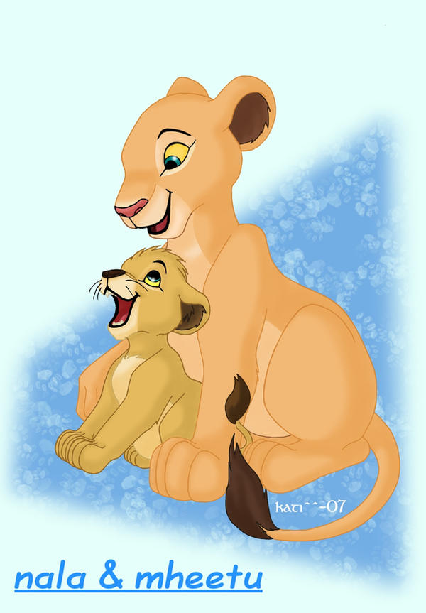 Lion king baby simba and nala