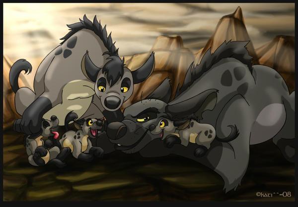 little hyaenes by kati-kopa