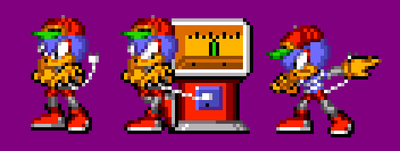 Socket the Roboduck (Sonic Battle Style) by SigmathePlutonianFox